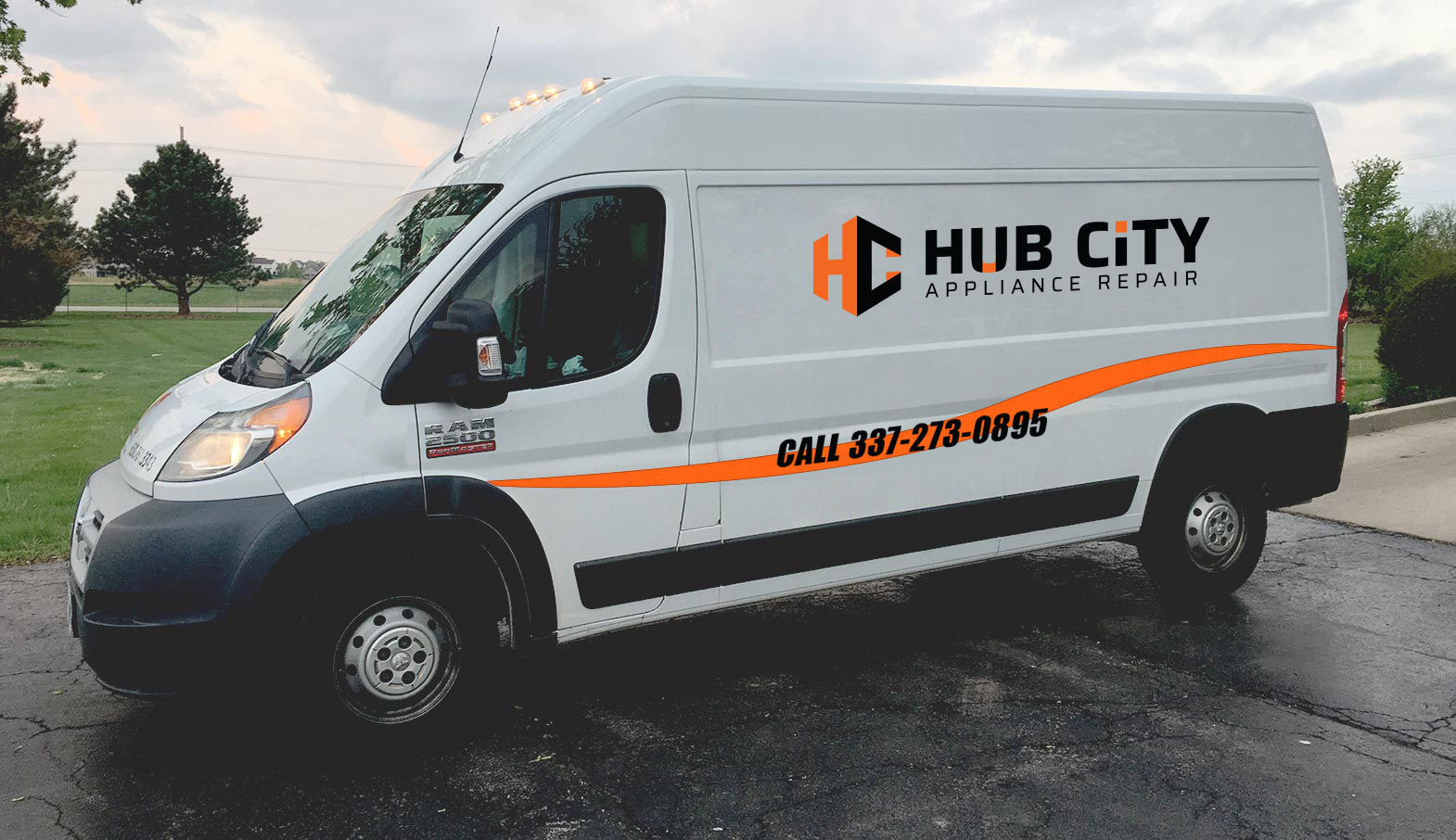 hub city appliance repair van